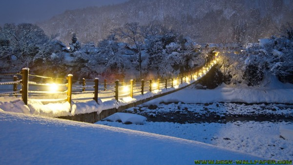 Bridge under snow