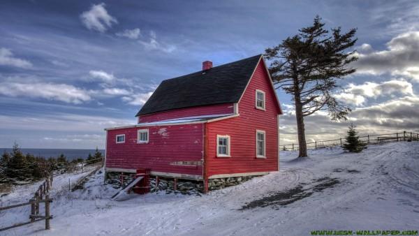 House on snow