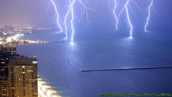 Stormy city