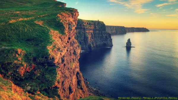 Cliff of moher at the summer