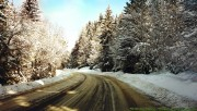 Drive on icy road